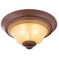 Elysia 3 Light 21 inch Aged Iron Flush Mount Ceiling Light