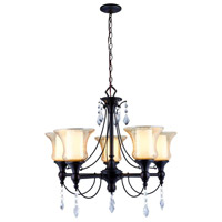 Ethelyn 5 Light 25 inch Oil Rubbed Bronze Chandelier Ceiling Light