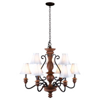 Elysia 9 Light 36 inch Aged Iron Chandelier Ceiling Light