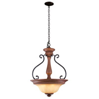 Elysia 3 Light Aged Iron Pendant Ceiling Light