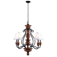 Elysia 5 Light 34 inch Aged Iron Chandelier Ceiling Light