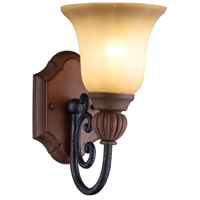 Elysia 1 Light 8 inch Aged Iron Vanity Fixture Wall Light