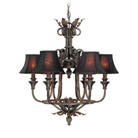 World Import Designs Pavia 6 Light Chandelier in Bronze 7243-89