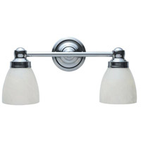Troyes 2 Light 18 inch Chrome Bath Wall Sconce Wall Light