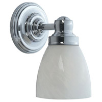 Troyes 1 Light 7 inch Chrome Bath Wall Sconce Wall Light