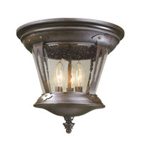 World Import Designs Northampton 3 Light Flush Mount in Bronze 74264-89