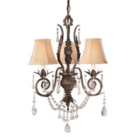 World Import Designs Berkeley Square 3 Light Chandelier in Weathered Bronze 750-62