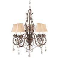 World Import Designs Berkeley Square 5 Light Chandelier in Weathered Bronze 751-62