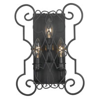 World Import Designs Alistar 3 Light Wall Sconce in Rust 7513-42