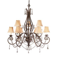 World Import Designs Berkeley Square 9 Light Chandelier in Weathered Bronze 753-62