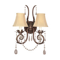 World Import Designs Berkeley Square 2 Light Wall Sconce in Weathered Bronze 755-62