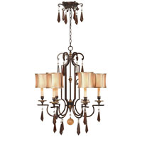 Turin 6 Light 27 inch Euro Bronze Chandelier Ceiling Light