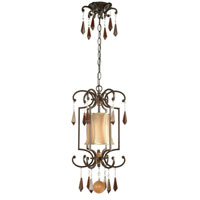 World Import Designs Turin 1 Light Pendant in Euro Bronze 7651-29