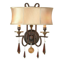 World Import Designs Turin 2 Light Wall Sconce in Euro Bronze 7662-29