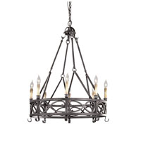 World Import Designs Chaumont 8 Light Chandelier in Textured Rust 80016-85