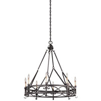 World Import Designs Chaumont 8 Light Chandelier in Textured Rust 80018-85