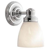 World Import Designs Troyes 1 Light Wall Sconce in Chrome 8025-08