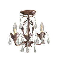 World Import Designs Bijoux 3 Light Chandelier in Weathered Bronze 81023-62