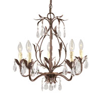 World Import Designs Bijoux 5 Light Chandelier in Weathered Bronze 81025-62