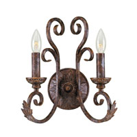 World Import Designs Medici 2 Light Wall Sconce in Oxide Bronze 81082-58