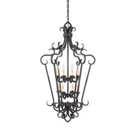 World Import Designs Bristol 8 Light Foyer in Rust 8217-42 photo thumbnail