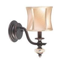 World Import Designs Chambord 1 Light Wall Sconce in Weathered Bronze 8561-56