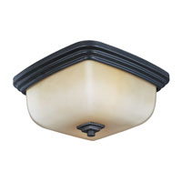 World Import Designs Galway 1 Light Flush Mount in Oil Rubbed Bronze 8572-88