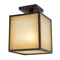 World Import Designs Hilden 1 Light Semi-Flush Mount in Aged Bronze 9068-55