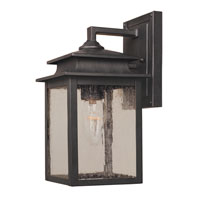 Sutton 1 Light 11 inch Rust Outdoor Wall Lantern