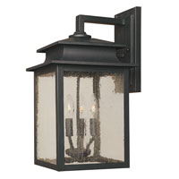 Sutton 3 Light 16 inch Rust Outdoor Wall Lantern