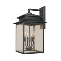 World Import Designs Sutton 4 Light Outdoor Wall Lantern in Rust 9107-42