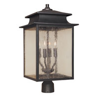 Sutton 4 Light 23 inch Rust Post Lantern