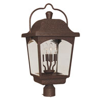 Ayrs 4 Light 25 inch Bronze Post Lantern