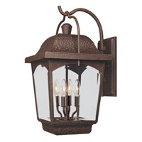 World Import Designs Ayrs 4 Light Outdoor Wall Lantern in Bronze 9203-89 photo thumbnail