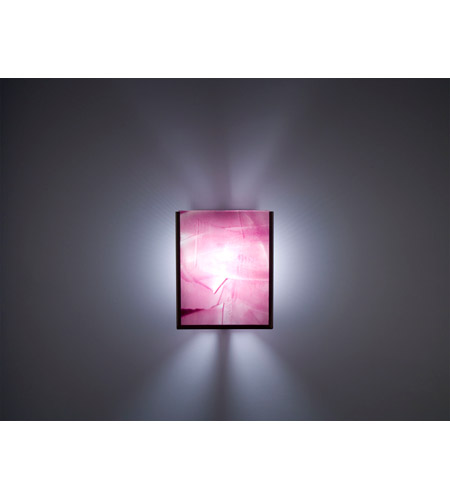 WPT Design FN2IO-BZ-MER F/N 2IO 1 Light 8 inch Bronze ADA Wall Sconce Wall Light in Merlot photo thumbnail