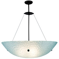 Bowl 4 Light 30 inch Bronze Pendant Ceiling Light in Phantom Frost, 58