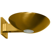 Caspio 1 Light 10 inch Brushed Brass Wall Sconce Wall Light
