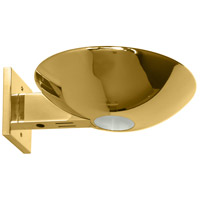 Caspio 1 Light 10 inch Polished Brass Wall Sconce Wall Light
