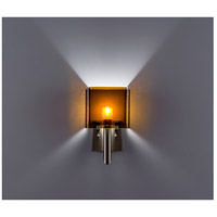 WPT Design DESSY1/6-D-AM/AM Dessy One / 6 1 Light 12 inch Stainless Steel ADA Wall Sconce Wall Light in Amber Double Glass