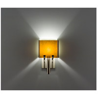 WPT Design DESSY1/6-D-AM/SN Dessy One / 6 1 Light 12 inch Stainless Steel ADA Wall Sconce Wall Light in Amber Snow Double Glass