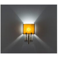 WPT Design DESSY1/6-D-AM/WH Dessy One / 6 1 Light 12 inch Stainless Steel ADA Wall Sconce Wall Light in Amber White Double Glass