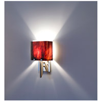 WPT Design DESSY1/6-D-RB/WH Dessy 1 Light 12 inch Stainless Steel ADA Wall Mount Wall Light in Root Beer White