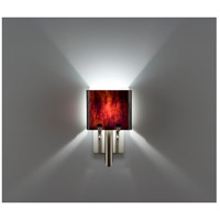 WPT Design DESSY1/6-D-RB/WH Dessy One / 6 1 Light 12 inch Stainless Steel ADA Wall Sconce Wall Light in Root Beer White Double Glass