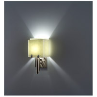 WPT Design DESSY1/6-D-SN/SN Dessy One / 6 1 Light 12 inch Stainless Steel ADA Wall Sconce Wall Light in Snow Double Glass