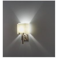 WPT Design DESSY1/6-D-SN/WH Dessy 1 Light 12 inch Stainless Steel ADA Wall Mount Wall Light in Snow White