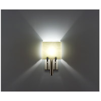 WPT Design DESSY1/6-D-SN/WH Dessy One / 6 1 Light 12 inch Stainless Steel ADA Wall Sconce Wall Light in Snow White Double Glass