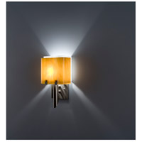 WPT Design DESSY1/6-D-TF/WH Dessy 1 Light 12 inch Stainless Steel ADA Wall Mount Wall Light in Toffee White