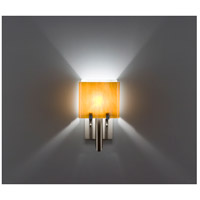 WPT Design DESSY1/6-D-TF/WH Dessy One / 6 1 Light 12 inch Stainless Steel ADA Wall Sconce Wall Light in Toffee White Double Glass