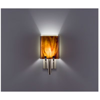 WPT Design DESSY1/8-S-RB Dessy One / 8 1 Light 14 inch Stainless Steel ADA Wall Sconce Wall Light in Root Beer, Single Glass