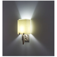 WPT Design DESSY1/8-D-SN/SN Dessy One / 8 1 Light 14 inch Stainless Steel ADA Wall Sconce Wall Light in Snow Double Glass